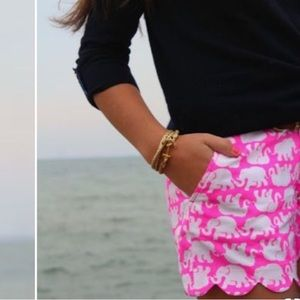 NWT Lilly Pulitzer Buttercup Pink Scalloped Shorts